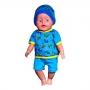 Костюм шапочка-футброка-шорты   для куклы-мальчика кулир цв. МИКС*