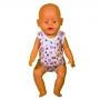 Комплект трусы-майки для куклы- мальчимка кулир хлопок 100%  цв.МИКС
