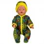 Комбинезон+шапочка   для куклы-мальчика  футер  цв. МИКС