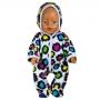 Комбинезон с капюшоном    для куклы-девочки  флис  цв. МИКС
